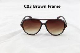 Le sport pc à vendre-10Pcs / Lot de haute qualité unisexe Sports Lunettes de soleil femmes hommes UV400 marque lunettes de soleil pilotes Eye Wear Femmes conduisant Oculos 4125 avec Box Case