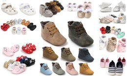 EMS free shipping!36 pairs lot Wholesale leather baby sneakers Fashion baby sport shoes Hot sale princess shoes Newborn baby shoes