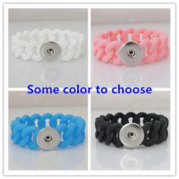 Promotion caoutchouc pression Grossiste-10pcs / lot caoutchouc s'enclenche bracelets en 20mm snaps bijoux correspondent boutons pression KB9700