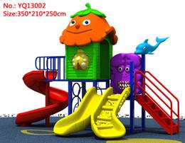 Kindergarten large plastic slide children's playground outdoor toy slide combination park park outdoor slide