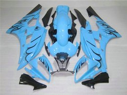 Wholesale 4 Free Gifts New ABS Injection mold Fairing Kits Fitment For YAMAHA YZF600 R6 YZF R6 YZFR6 bodykit blue vs black flame