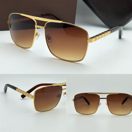 new luxury logo sunglass attitude sunglass gold frame square metal frame vintage style outdoor design classical model