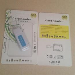Adaptateurs duo memory stick à vendre-Tout en 1 USB 2.0 Multi Memory Card Reader Adaptateur Connecteur Pour Micro SD MMC SDHC TF M2 Mémoire Stick MS Duo RS-MMC Avec sac de vente au détail