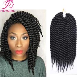 Le tressage des cheveux 12 pouces en Ligne-Vente en gros Pré-tressé Box Braids Xpression cheveux Extension Havana Mambo Twist Crochet Cheveux Tresses Hot 12 pouces Crochet Twist cheveux