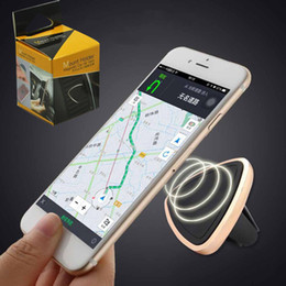 Wholesale Car mount holder universal Air Vent Magnetic Mobile Phone mounts holders for iPhone Samsung sony lg aluminum silicone holder stand