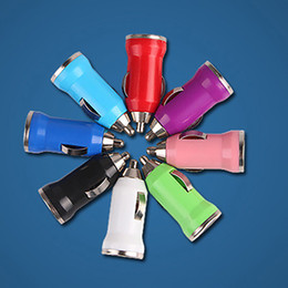 5V 3.1A USB Car Charger Colorful Bullet Mini Car Charge Portable Charger Universal Adapter for iPhone 5 6 6S Ipad Samsung HTC Free Shipping