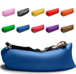 Outdoor Inflatable Air Sleeping Bag Portable Sofa Hangout Lounger Air Boat Air Lazy Sofa Inflate Camping Beach Sleeping Bed Hammock B1862