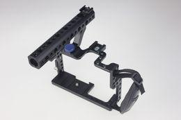 Aparejo de jaula en venta-F11100 Profesional GH3 GH4 Protector de la caja de la vivienda Mango Grip Rugged Cage Combo Set para Panasonic CH3 / CH4 DSLR Rig Cámara Digital