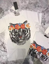 Promotion t-shirt imprimé floral 2017 hot-chat imprimé basique Tops Tee graphique pour femme designer design sexy back t shirt Summer round 43