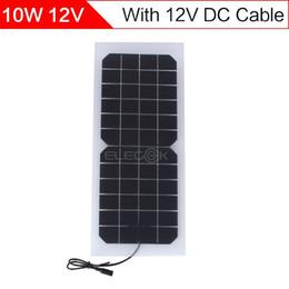 ELEGEEK 10W 12V панели солнечных батарей Полуэластичное Прозрачный с выходом DC 440 * 190мм Mini Панель солнечных батарей для DIY Солнечной системы от Производители flexible solar panel