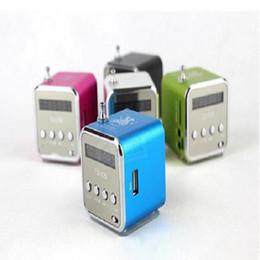 Boîte de haut-parleur de radio à vendre-Mini haut-parleur numérique TD-V26 Haut-parleur portable USB Sound Box support TF / carte SD + FM Radio + U affichage LCD disque 6 couleurs