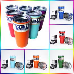 Wholesale Colorful YETI CUPS OZ OZ beer mug travel cup Rambler Colster Vacuu Tumbler Bilayer Insulation Tumblerful car mug sports cups