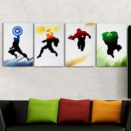 Wholesale The Avengers Iron man Thor Captain America Spiderman Pure Handcraft Modern Art Oil Painting Home Wall Decor High Quality Canvas Multi size