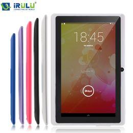 Couleur dual quad en Ligne-Vente en gros iRULU eXpro X1 7 '' Tablette Allwinner Quad Core Android 4,4 Tablette 8GB ROM Double caméras multi couleurs soutient WiFi OTG HOT vendeur
