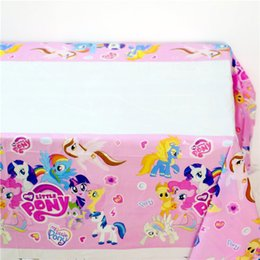Wholesale My Little Pony Kids Favors Tablecover Cartoon Theme Birthday Party Decoration Supplies Tablecloth Happy Baby Shower cm