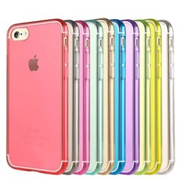 Ultra thin Full Transparent Soft TPU Case for Apple iPhone7 Plus Candy Color Back Cover for iPhone7 Protective Phone Case