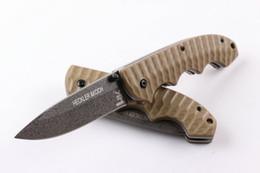 Wholesale Heckler Koch HK Stonewashed Tactical Folding Knife cr18mov HRC G10 Handle Camping Hunting Survival Pocket Knife Military Utility EDC