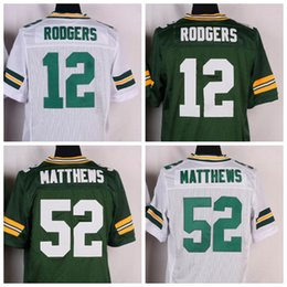 Wholesale Elite Aaron Rodgers Jersey Hot Sale Playoffs Football Jerseys Men s Football Shirts Stitched Football Uniforms Green White In Stock