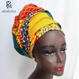 Kente Head Wrap African Head Wrap Kerchief Womens Ankara Dashiki Batik Printing Pure Cotton Size 70X20inch