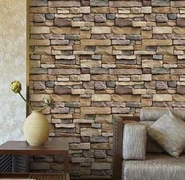 Vintage Brief Wall Sticker Wall Bricks Pattern Self Adhesive Waterproof Wallpaper Bedroom Living Room Sticking Decoration Decal