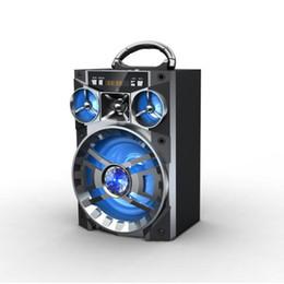 Boîte de haut-parleur de radio à vendre-Big Sound Haut-parleur HiFi Portable Bluetooth AUX Haut-parleurs Subwoofer sans fil Boîte de musique extérieure avec USB LED Light TF Radio FM 18pcs