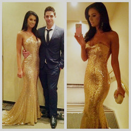 Rose Gold Sequined Blingbling Prom Evening Dresses Sexy Backless 2017 New Mermaid Sweetheart Long Party Evening Gowns Vestidos de fiesta