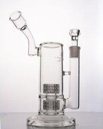 Aparejo de jaula en Línea-Mobius Cajón de pájaros Bongo de cristal Bongos de cristal claro Dab Rig Matriz doble estéreo Perc Reciclador de tuberías de agua Oil Rigs