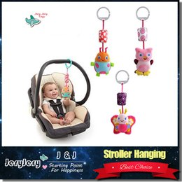 Wholesale Sozzy Animal Style Baby Rattle Mobile Bed Hanging Wind Chimes Ringing Baby Hand Bell Toy Plush Educational Toy for Infant