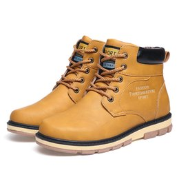 2017 new product mens boots work lace-up leather big size hard-wearing casual shoes men breathable high quality solid boots
