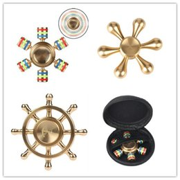 Brass Metal Tri Fidget Hand Spinners Triangle Environmental Brass Puzzle Finger Toy EDC Fidget Hand Spinner ADHD Austim Learning toys 2017
