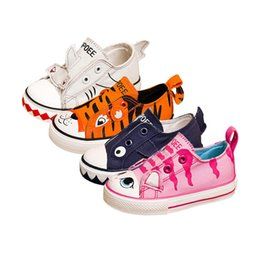 cute baby kids canvas shoes lovely cartoon animals flat shoes for 9M-6yrs children little boys girls light outdoor causal shoes