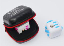 Stockage pour les jouets à vendre-Boîte de rangement pour Fidget Cube Toy Stress zipper case Relief Décompression Anxiété Jouets Fidget Cube Box Fidget Cube Titulaire