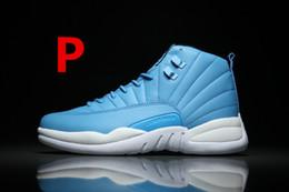 2017 chaussures de sport pas cher 2016 bon marché Retro 12 laine XII Basketball Chaussures Sneakers Hommes Taxi Playoffs Gamma Blanc Gris Retros Chaussures Chaussures de sport. chaussures de sport pas cher offres