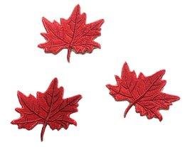 Fashion CANADA Maple Leaf Embroidered Iron On Patch Small Size Hats Shirts Bags Emblem DIY Applique Embroidery Accessory Patch Free Shipping