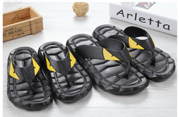 PM42 men shoes beach flip flops sandals eva open toe flat black