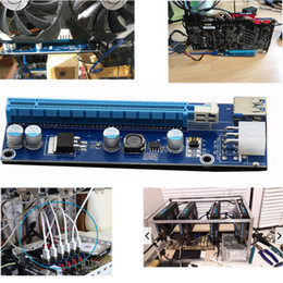 New Updated 60cm PCI-E PCI E Express 1x to 16x graphics Card Riser Extender Adapter VER006C SATA to 4 Pin IDE Power For Bitcoin BTC Miner