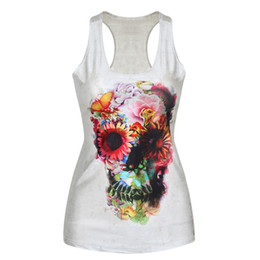 Wholesale Factory Price Womens Digital Print t shirt Gothic Punk Club Street Style Tops