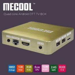 Wholesale S905X TV Box Mecool HM8 Newest fully loaded Quad core Stream Box GB GB Penta core GPU Free IPTV Android Box