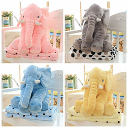Wholesale Elephant Pillow Blanket Sets Elephant Plush Pillow Blankets Animal Stuffed Dolls Toys Sofa Bedding Throw Pillow Cushion Gifts cm F390