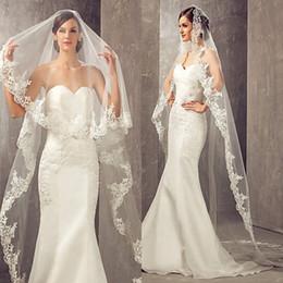 2019 Best Selling 3 Meters Long Cheapest Chapel Length White Ivory Bridal Veil Lace Appliques Veu De Noiva Longo Wedding Veil CPA859