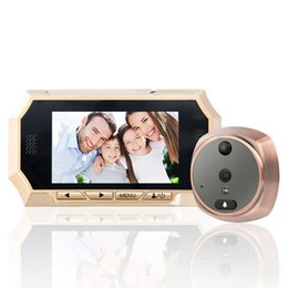 Promotion visionneuse vidéo 4,3 pouces LCD 160 degrés Peephole Viewer Porte Oeil Sonnette Couleur IR Camera Door Eye Video Recorder Night Vision