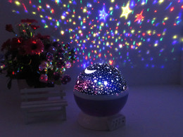 Wholesale Festive Light LED Night Lighting Lamp Elecstars Light Up Your Bedroom With This Moon Star Sky Romantic LED Nightlight Projector Best Gift