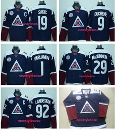 Promotion série de hockey 2017 Stade Série Colorado Avalanche Hockey Nouveau Bleu Matt Duchene 19 Joe Sakic 29 Nathan MacKinnon 92 Gabriel Landeskog Maillot Mix