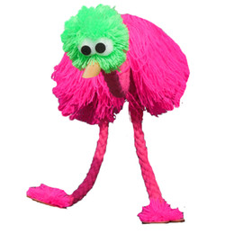 Wholesale Doll marionette hand Puppet Muppet Chinese Animal puppets ostrich toy Cotton rope wool control Joint Doll Funny wooden toys
