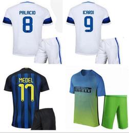 Wholesale 16 mens Inter soccer jersey kit football shirt JOVETIC ICARDI PALACIO KONDOGBIA MEDEL football uniforms