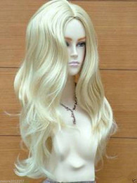 Fashion wig New sexy Women's Long Platinum Blonde Wavy wigs