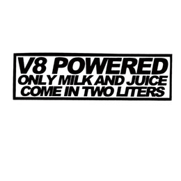2017 fenêtres course Pour V8 Salade De Lait Alimenté 2 Litre Autocollant Funny Car Styling Race Mustang Jdm Drift Vinyl Decal Car Fenêtre Accessoires Décor peu coûteux fenêtres course
