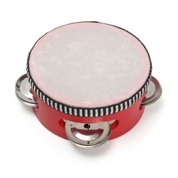 Wholesale Funny Tambourine Drum Bell Percussion Toy Musical Instrument Gift For Children Playing Learning Dancing Party Supplies