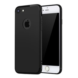 2016 New Slim Thin Colors Matte Silicone Phone Case For iPhone 7 TPU Rubber Soft Back Cover For iphone 7 Plus With Dust Plug