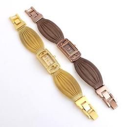 Fashion Brand BAOHE Design Luxury Watches Women Fashion Golden Plated Cz Diamond Quartz WristWatch Women Casual Watch